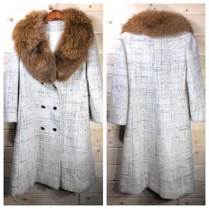 Pauline Trigere Coat Vintage With Fur Collar